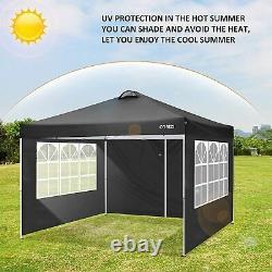 3x3/3x6 Gazebo Pop-up Canopy Waterproof Tent withSides Garden Wedding Marketstall