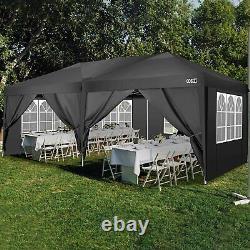 3x3/3x6M Gazebo Heavy Duty Waterproof Tent Wedding Party Marketstall withSides New