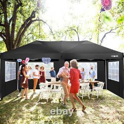 3x3M/3x6M Gazebo Pop-up Canopy Waterproof Tent Garden Party Marketstall with Sides