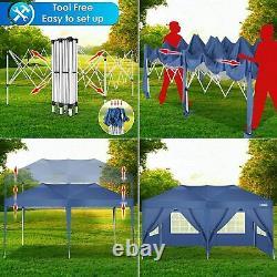 3x3M/3x6M Gazebo Pop-up Waterproof Canopy Outdoor Garden Marketstall with Sides UK