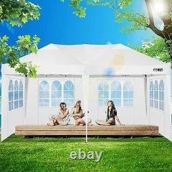 3x3M/6M Gazebo Pop-up Waterproof Canopy Outdoor Garden PartyMarketstall with Sides