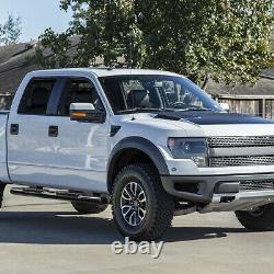 5 OVAL Tube Running Board Side Step Bar for 99-16 Ford F250-550 SD Crew Cab