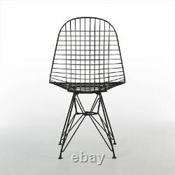 Black Herman Miller Original Vintage Eames DKR Wired Dining Side Chair