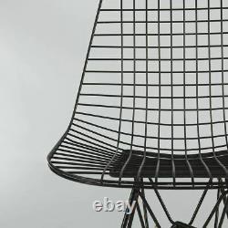 Black Pair (2) Herman Miller Original Vintage Eames DKR Dining Wired Side Chairs