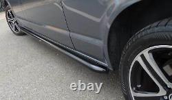 Black Powder Coated OE Style SUS201 S/Steel Side Bars for Volkswagen T6 SWB