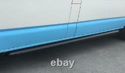 Black Powder Coated OE Style Steel Side Bars for Volkswagen Transporter T6 SWB