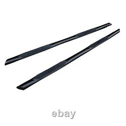 Black Powder Coated Steel Side Bars with Pads for Volkswagen Transporter T5 SWB