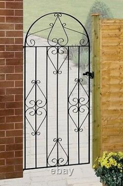 Classic Metal Scroll Tall Garden Side Gate fits 762mm to 1067mm GAP Wrought Iron