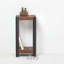 Columbus Tall Telephone Table Side Table Industrial Reclaimed Wood Furniture