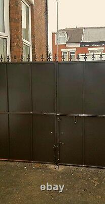 Double sheeted Gate, Metal Iron Gate, Security Gate, Side Gate, Drive Gate, Gate