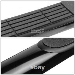 Fit 07-20 Toyota Tundra CrewMax Cab Black 3 Side Step Nerf Bar Running Board