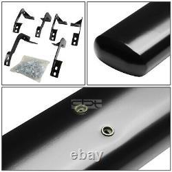 Fit 09-20 Dodge Ram 4Dr Quad Cab 5 Black Oval Side Step Nerf Bar Running Board