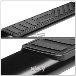 Fit 99-14 Silverado/Sierra Ext Cab 5Black Oval Side Step Nerf Bar Running Board