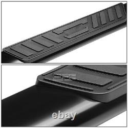 Fit 99-16 Ford Superduty Crew Cab 5 Black Oval Side Step Nerf Bar Running Board