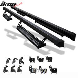 Fits 07-17 Jeep Wrangler 4Door Offroad Style Running Boards Nerf Bars