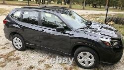 Fits 2019 Subaru Forester Base, SSD Side Roof Rails, Rack, Black Powder Coat