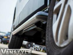 Fits Nissan Primastar 01-14 Black Sportline Side Bars Swb Steel Powder Coated