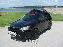 Fits2015 Subaru Forester SSD Roof Rails, Side Rails, Rack, Black Powder Coated