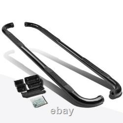For 00-14 Avalanche/Suburban/Yukon XL 3 Side Step Nerf Bar Running Board Black