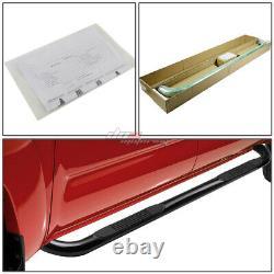 For 00-14 Suburban/avalanche/yukon 4dr Black MILD Steel 3side Step Nerf Bar Kit