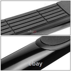 For 00-19 Silverado/sierra Ext Cab Black Ss MILD Steel 3 Side Step Nerf Bar Kit
