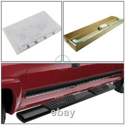 For 01-03 Ford F150 Crew Cab 5 Coated Oval Side Step Nerf Bar Running Boards