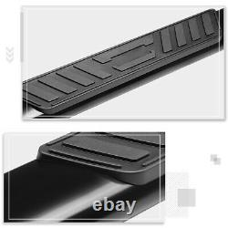 For 01-03 Ford F150 SuperCrew Cab Oval 5 Side Step Nerf Bar Running Board Black