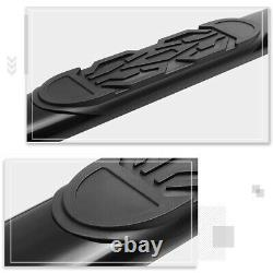 For 01-03 Ford F150 SuperCrew Cab Oval 6 Side Step Nerf Bar Running Board Black