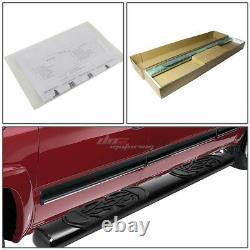 For 02-08 Dodge Ram 4dr Quad Cab MILD Steel 6black Oval Side Step Nerf Bar Kit