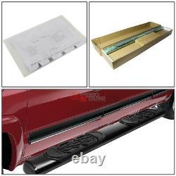 For 02-09 Dodge Ram 1500-3500 Quad Cab 6black Oval Side Assist Step Bar Rail