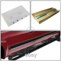 For 02-09 Dodge Ram Quad/Crew Cab 6 Black Oval Side Step Rail Bar Running Board