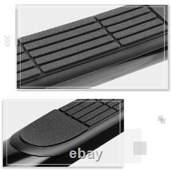 For 04-08 Ford F150 Extended/Super Cab 3 Side Step Nerf Bar Running Board Black