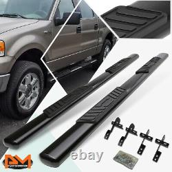 For 04-08 Ford F150 SuperCrew Cab Oval 5 Side Step Nerf Bar Running Board Black