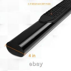 For 04-14 Ford F150 Ext/Super Cab Oval 4 Side Step Nerf Bar Running Board Black