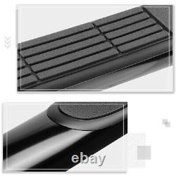 For 05-20 Tacoma Double/Crew Cab Round 3 Side Step Nerf Bar Running Board Black