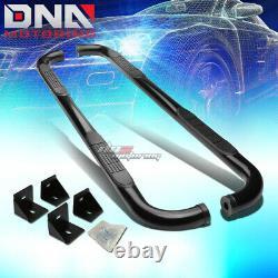 For 07-18 Jeep Wrangler Jk/jku Suv Black MILD Steel 3 Side Step Nerf Bar Kit
