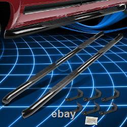 For 07-19 Silverado Sierra Crew Cab 3 Black Steel Side Step Bar Running Boards