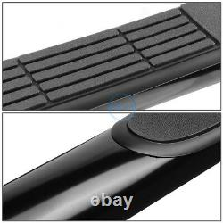 For 07-20 Tundra Crew Cab 3 Black Round Tubing Side Nerf Step Bar Running Board