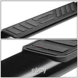 For 09-20 Dodge Ram 4dr Crew Cab MILD Steel 5 Black Oval Side Step Nerf Bar Kit