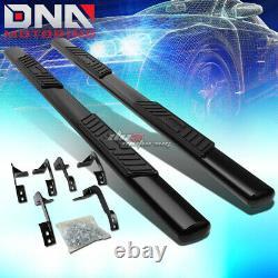For 09-20 Dodge Ram 4dr Quad Cab MILD Steel 5 Black Oval Side Step Nerf Bar Kit