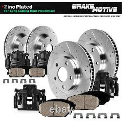 For 2007 ESCALADE AVALANCHE SUBURBAN YUKON Front+Rear Brake Calipers Rotors Pads