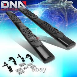 For 97-03 Ford F150 Ext/super Cab MILD Steel 6black Oval Side Step Nerf Bar Kit