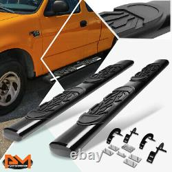 For 97-03 Ford F150/F250 Ext Cab Oval 6 Side Step Nerf Bar Running Board Black