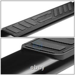 For 99-14 Silverado Crew Cab 5 Coated Oval Tube Side Step Bar Running Boards
