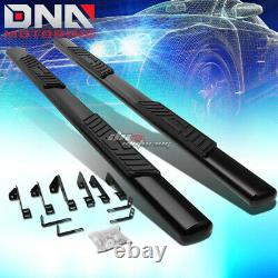 For 99-14 Silverado Crew Cab MILD Steel 5 Black Oval Side Step Nerf Bar Kit