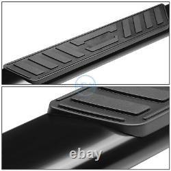 For 99-14 Silverado Sierra Extended Cab 5 Blk Oval Side Step Bar Running Boards