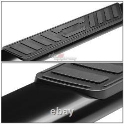 For 99-14 Silverado/sierra Ext Cab MILD Steel 5 Black Oval Side Step Bar Kit