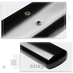 For 99-16 Ford Super Duty Crew Cab Oval Tubing 5 Side Step Nerf Bar Board Black
