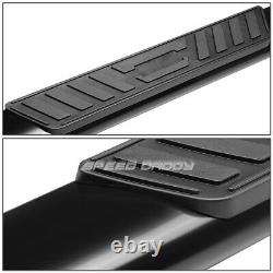 For 99-16 Ford Superduty Crew Cab 5 Black Oval Side Step Nerf Bar Running Board