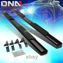 For 99-16 Ford Superduty Crew Cab MILD Steel 5black Oval Side Step Nerf Bar Kit